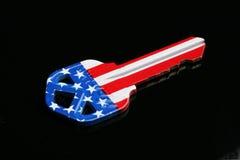 American key. American flag key royalty free stock photos