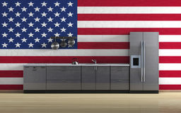 American kitchen Royalty Free Stock Photography
