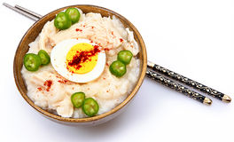 American Korean Style Dukjuk Chicken Porridge Stock Photos