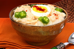 American Korean Style Dukjuk Chicken Porridge Stock Images
