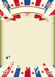 American kraft subeams poster Royalty Free Stock Images