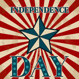 American label. Independence day. 4th july.  Royalty Free Stock Photography