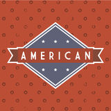American label Stock Image
