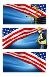 American Labor Day Banners Stock Image