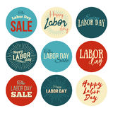 American Labor Day Sale designs set Stock Images