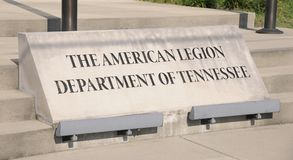 American Legion Department of Tennessee Sign Stock Photography
