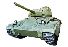 American light tank M24 Chaffee isolated Stock Photos