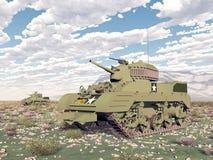 American light tanks of World War 2. Computer generated 3D illustration with American light tanks of World War 2 Royalty Free Stock Photography
