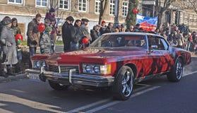 American limousine on street Stock Photos