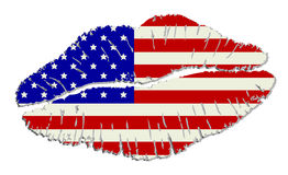 American lips stock photos