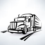American lorry silhouette Royalty Free Stock Images