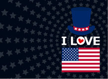 American lover Stock Image