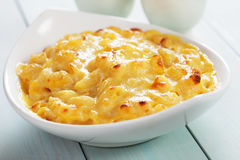 American mac and cheese pasta Royalty Free Stock Images