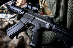 American machine gun in army background . Royalty Free Stock Image