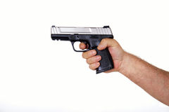 American made semi-automatic hand gun Stock Image