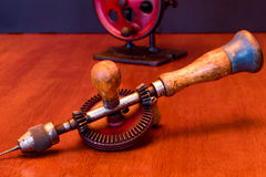 American Made Woodworker Hand Drill Royalty Free Stock Images