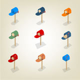 American mailbox isometric, vector illustration. Stock Photo