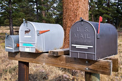 American mailboxes Royalty Free Stock Photos