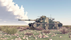 American main battle tank of the cold war Royalty Free Stock Photos