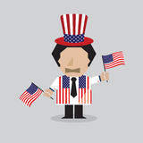American Man Vector Illustration Royalty Free Stock Photos
