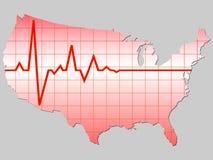 American map Stock Photos