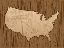 American map Royalty Free Stock Photos