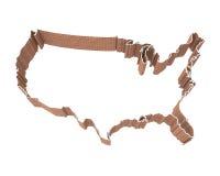 American Map And Brick Wall Royalty Free Stock Image