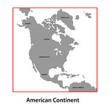 American map Stock Photography