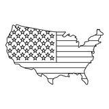 American map icon , outline style Royalty Free Stock Images
