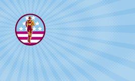 American Marathon Business card Stock Photo