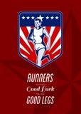 American Marathon Runner Good Legs Poster Stock Image