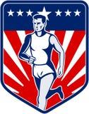 American Marathon runner race Stock Image