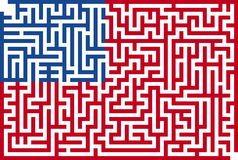 American Maze Flag Stock Image