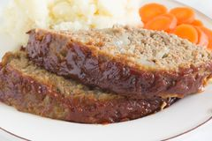 American Meatloaf Royalty Free Stock Photography