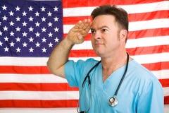 American Medic Salutes Royalty Free Stock Image