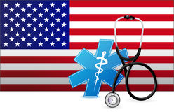 American medicine concept illustration Stock Photography