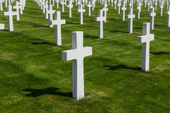 American memorial cemetery of World War II in Luxembourg. History background Stock Image