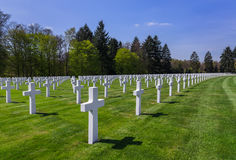 American memorial cemetery of World War II in Luxembourg Stock Photos