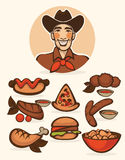American menu Stock Images