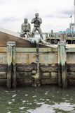 American Merchant Mariner`s Memorial located at Battery Park in downtown Manhattan. Royalty Free Stock Image