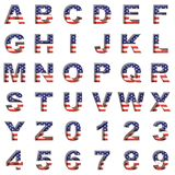 American metal alphabet on white Royalty Free Stock Photography