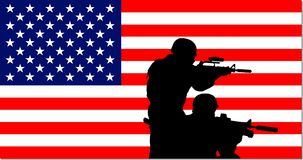 American military background Royalty Free Stock Photos