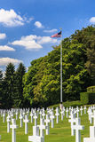 American military cemetery royalty free stock image