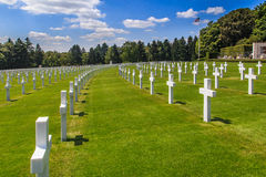 American military cemetery Stock Image