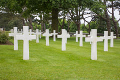 American Military Cemetery near Omaha Beach at Colleville sur Mer as historic site of 1944 D-Day Allied landings at Normandy Franc Stock Photo
