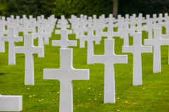 American Military Cemetery, Omaha Beach, Colleville-sur-Mer Stock Images