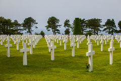 American Military Cemetery, Omaha Beach, Colleville-sur-Mer Royalty Free Stock Photography