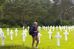 American Military Cemetery, Omaha Beach, Colleville-sur-Mer Royalty Free Stock Photos