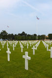 American Military Cemetery, Omaha Beach, Colleville-sur-Mer Royalty Free Stock Images
