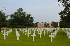 American Military Cemetery, Omaha Beach, Colleville-sur-Mer Stock Photo